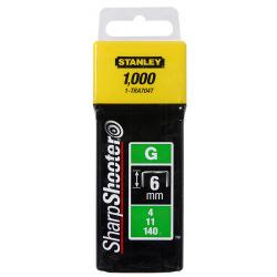 Скоби тип G 6мм (Степлер 6-TR250, 6-TR151Y) 1000шт (уп. 6) (1-TRA704T)