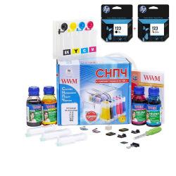 СНПЧ WWM IS.0430U + Картриджи HP 123 Black и HP 123 Color (IS.0432set)