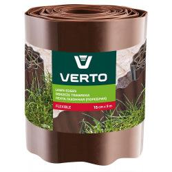 Лента Verto газонная 15 cm x 9 m, коричнева (15G514)