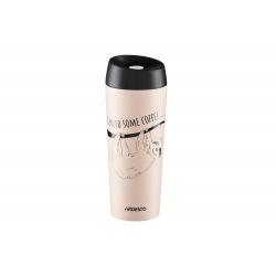 Термокружка Ardesto Coffee time Bradypus 450 мл, беж, нержавеющая сталь (AR2645DBE)