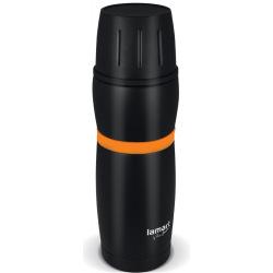 Термос Lamart 8x25.5см (0.48л) LT4054 черный, полоска оранж (LT4054)