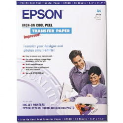 Термотрансферная Бумага Epson А4 Iron-On Cool Peel Transfer Paper для светлых тканей, 10л