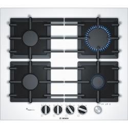 Варочная поверхность Bosch встраиваемая газовая - Ш-60см./4 конфорки/біла з чорним (PPP6A2M90R)