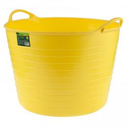 Відро гнучке надміцне 40 л, жовте  СИБРТЕХ (MIRI67507)