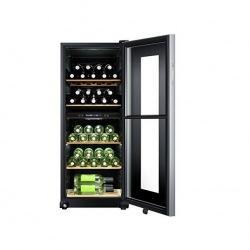 Винотека Haier WS46GDBE 127 см/46 пляшок/А/2 темп.зони/температура 6-18 С/Led-дисплей /5 поличок/чорний (WS46GDBE)