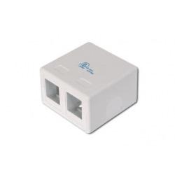 Соединительная коробка DIGITUS для модулей Keystone, 2 порта (AT-AG302A-WH)