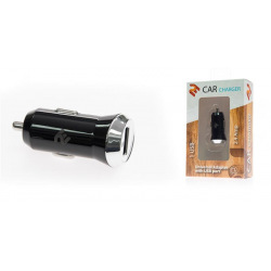 Зарядное устройство 2E USB 2.4A автомобильное, Black (2E-ACRT15-24B)