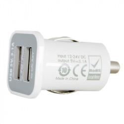 Автомобильное зарядное устройство 2xUSB: PDA, MP3, AUTO; 3.1A (DV00DV5036)