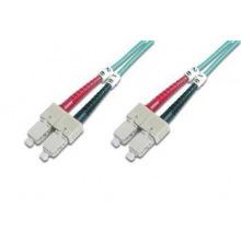 Оптический патч-корд DIGITUS SC/UPC-SC/UPC, 50/125, OM3, duplex, 1m (DK-2522-01/3)