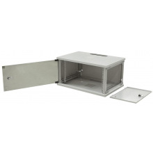"Шкаф ZPAS 19"" 6U 600x500, съемные бок.стенки, стекл. дверь, 15kg max, серый (WZ-3615-01-S2-011)"