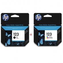 HP 123 Black + HP 123 Color Набор Картриджей (Set123)