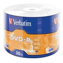 Диски DVD-R Verbatim (43788) 4.7GB 16x Wrap, 50шт  (43788 )