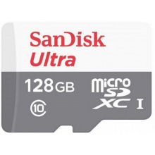 Карта пам'ятi SanDisk 128GB microSDHC C10 UHS-I R100MB/s Ultra + SD (SDSQUNR-128G-GN3MA)