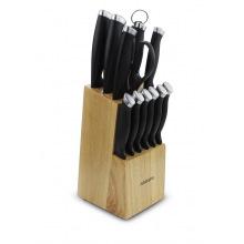 Набор ножів Ardesto Gemini Gourmet 14 пр., нерж.сталь, пластик, каучуковый блок (AR2114SW)