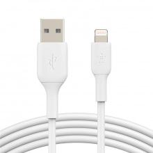 Кабель Belkin USB-A - Lightning, PVC, 2m, white (CAA001BT2MWH)