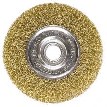 Щітка для КШМ 150 мм, посадка 22.2 мм, плоска металева, MTX (MIRI746649)