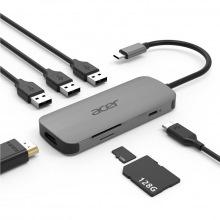 Док-станція Acer 7in1 Type C dongle: 1 x HDMI, 3 x USB3.2, 1 x SD/TF, 1 x PD (HP.DSCAB.008)
