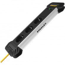 Сетевой фильтр Stanley 2 м, 3x1.5мм2, IP20, 3 розетки, 2 USB порта, алюминий (SXECCD2OBFE)