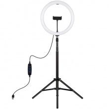 "Кольцевая USB LED лампа Puluz PKT3061B 11.8"" + штатив 1.65 м (PKT3061B    )"