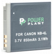 Аккумулятор PowerPlant Canon NB-4L 850mAh (DV00DV1006)