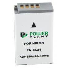 Аккумулятор PowerPlant Nikon EN-EL24 850mAh (DV00DV1407)