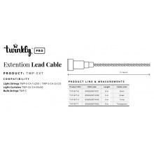 Удлиннитель кабелю Twinkly Pro AWG22 PVC кабель, 5м, прозрачный (TWP-EXT-T)