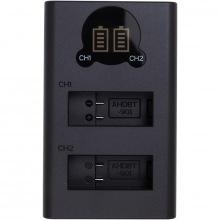 Зарядное устройство с дисплеем PowerPlant GoPro DL-AHDBT901 для двух аккумуляторов (CH980352)