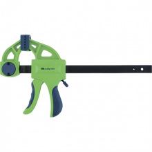 Струбцина F-подібна швидкозатискна 150х70х360 мм, пластиковий корпус, фіксатор, двокомпонентна рукоятка,  СИБЕРТЕХ (MIRI20563)