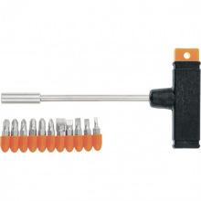 Викрутка з Т-подібною ручкою, набір біт, 11 шт,  SPARTA (MIRI115655)