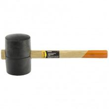 Киянка гумова 1130 г, чорна гума, дерев'яна ручка,  SPARTA (MIRI11161)