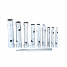 Набір ключів-трубок торцевих, 6 х 22 мм, 2 воротка, оцинковані, 10 шт,  SPARTA (MIRI137525)