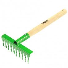 Граблі виті, 10-зубі, 180 мм, з рукояткою 300 мм, СИБРТЕХ (MIRI61762)