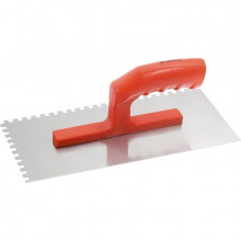 Гладилка сталева, 280 х 130 мм, дзеркальна поліровка, пластмасова ручка, зуб 6 х 6 мм MTX (MIRI867759)
