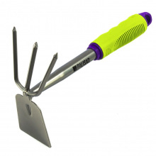 """Мотижка комбінована """"трапеція"""" і 3-зуба, прогумована рукоятка, використовується у зборі з 630168, 630178,  PALISAD (MIRI630088)"""