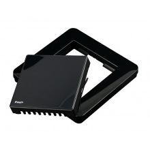 Рамка Heatit для термостата, пластиковая, с кнопкой, чёрная (5430446)