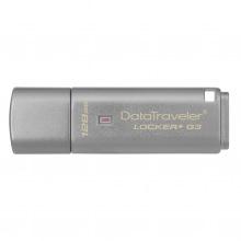 Накопичувач Kingston 128GB USB 3.0 DT Locker+ G3 Metal Silver Security (DTLPG3/128GB)