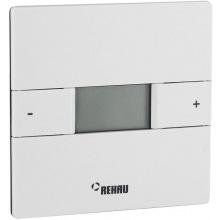 Терморегулятор Rehau Nea hст, електронний, програмований, провідний, 230V, +5+30, 88х88 мм, білий (338230001)