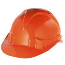Каска захисна з ударостійкої пластмаси, помаранчева,  Сибртех (MIRI89113)