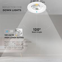 Светильник встроенный LED V-TAC, 10W, SKU-1271, 230V, 6.4K, 1200Lm, Круглый (3800157611947)