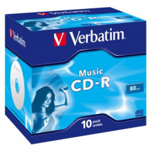 Диски CD-R Verbatim (43365) 700MB 16x Audio Live it Jewel, 10шт  (43365 )