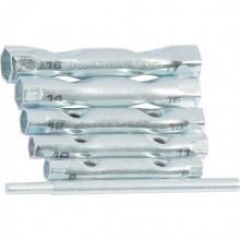 Набір ключів-трубок торцевих, 8 х 17 мм, вороток, оцинковані, 6 шт,  SPARTA (MIRI137405)