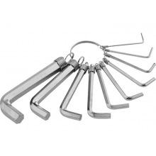 Набір ключів імбусових HEX 1.5-10 мм, CrV, 10 шт, нікельовані, на кільці,  SPARTA (MIRI112685)