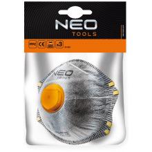 Пилозахисна напівмаска NEO з активованим вугіллям FFP2, з клапаном, 3 шт. (97-301)