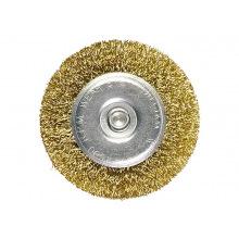 Щітка плоска зі шпилькою для дрилі 50 мм, латунний кручений дріт,  MTX (MIRI744449)