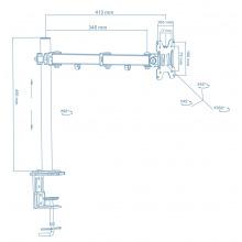 Кронштейн Walfix DM-300B (для монітора) (DM-300B)
