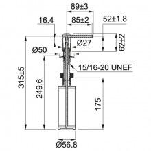 Дозатор миючих засобів Franke Comfort /119.0578.748/фраграніт/350 мл./білий (119.0578.748)