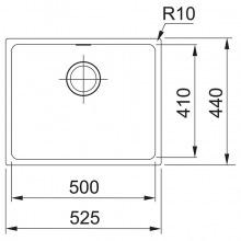 Кухонні мийки Franke SIRIUS SID 110-50/125.0395.602 (125.0395.602)