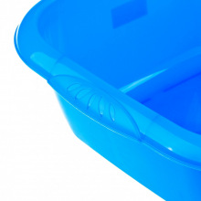 Таз пластмасовий квадратний, блакитний,  12 л,   Elfe (MIRI92985)
