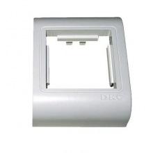"""Рамка-Супорт DKC под 2 модуля """"BRAVA"""" PDA-BN 80, белая RAL9016 (10443)"""
