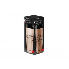 Термочашка Ardesto Coffee time Raccoon 450 мл, коричн., нерж.сталь (AR2645DML)